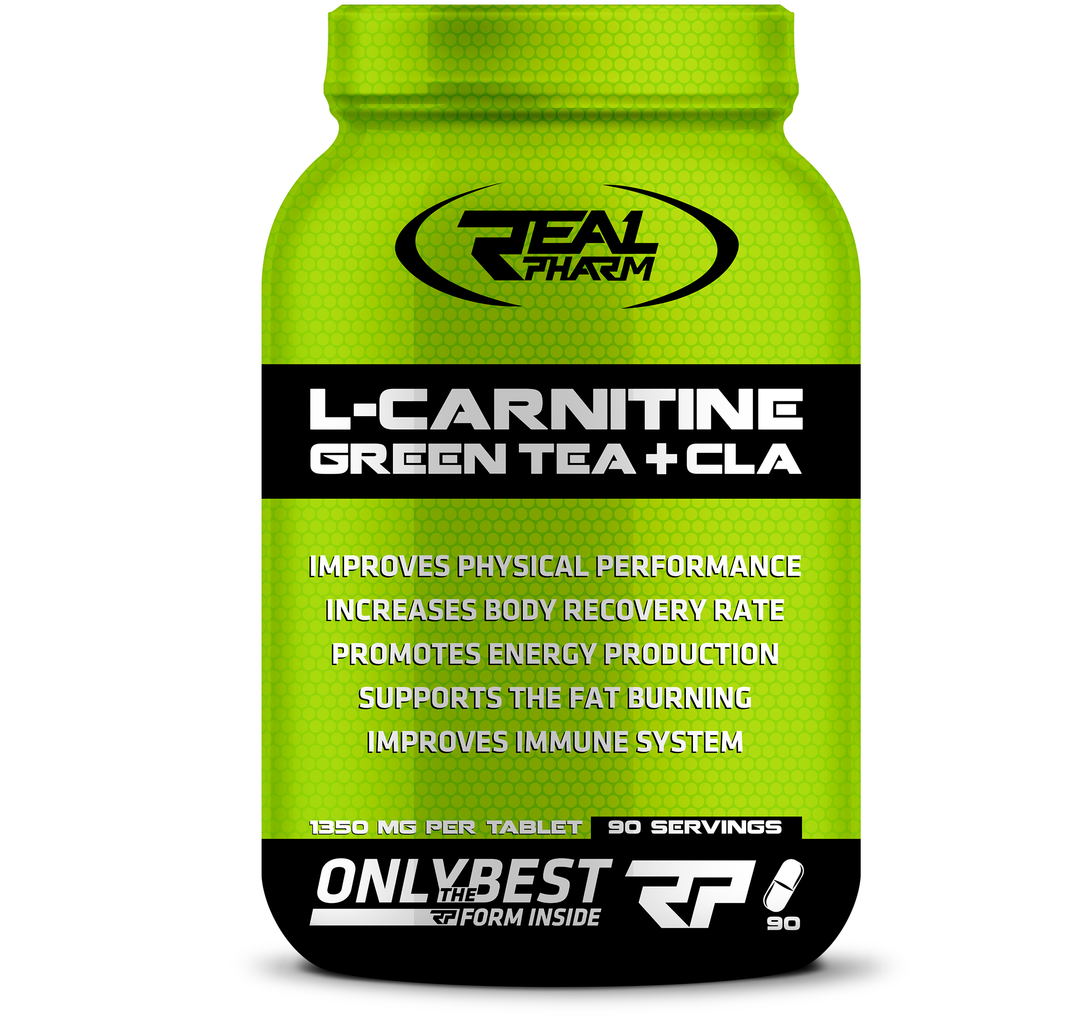 Real Pharm L-Carnitine, Green Tea & CLA - Malta Supplement